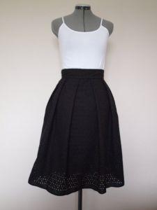 Martina Eyelet Midi Skirt