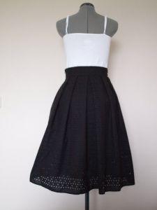 Martina Eyelet Skirt Back