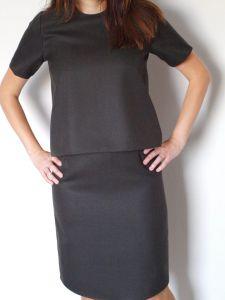 Olivia Wool Top + Pencil Skirt
