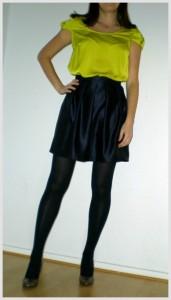 Pleated skirt by Susana Nakatani