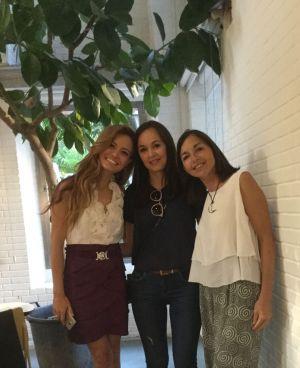 Katherine Comomoto, Susana Nakatani and Charo Ulecia